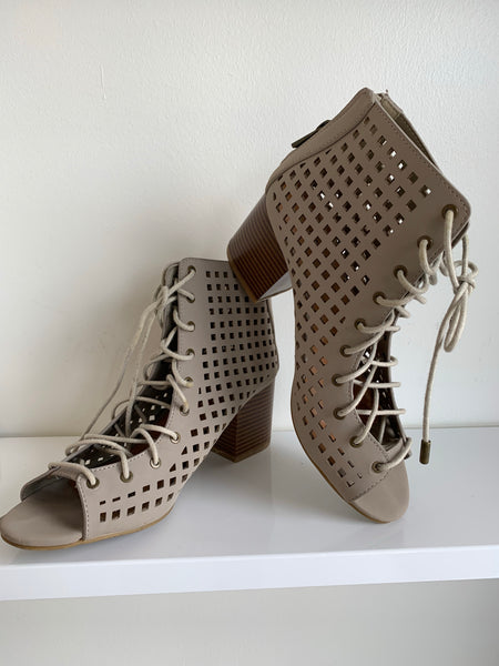 Grey Lace Up Bootie