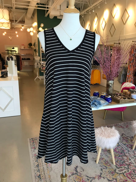 B + W Striped Tank Dress