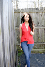 Poinsetta Red Chiffon Tank