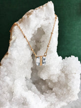 Square Semi-Precious Stone Necklace