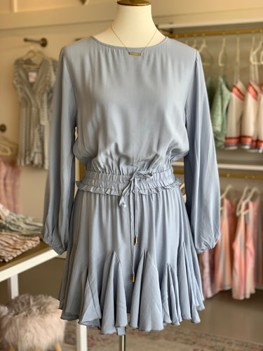 Dusty Blue Long Sleeve Romper
