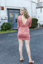 Rose Open Back Lace Dress
