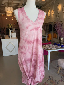 Pink Cloud Tie-Dye Dress