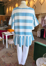 Light Blue & White Striped Blouse