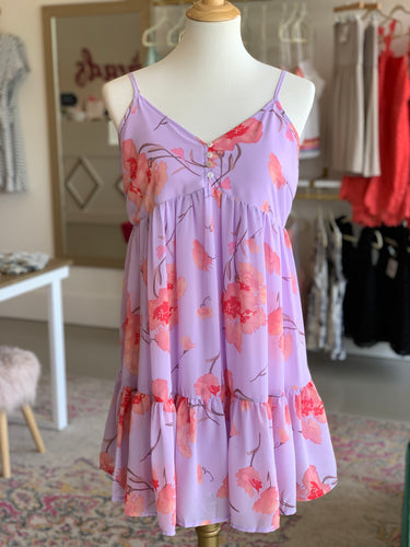 Lavender Floral BabyDoll Dress