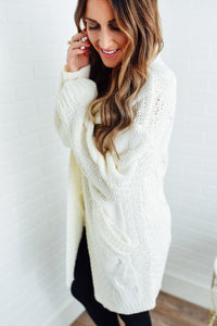 Cream Chunky Cable Cardigan