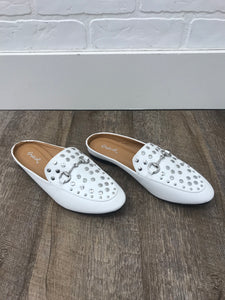 White Studded Loafer