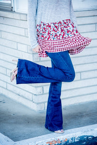 Rich Blue Flare Jeans