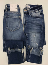 High Waist Denim with Frayed Hem