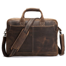 Load image into Gallery viewer, Men's Leather Business Tote Bag
