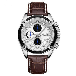 Megir Men's Leather Watch