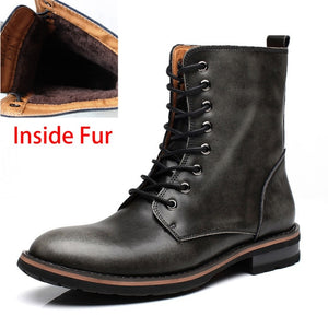 Men's Vintage Combat Winter Boots