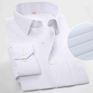 Men's Long Sleeved Striped Dress Shirt