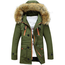 Load image into Gallery viewer, Men's Warm Winter Hooded Fur Jacket