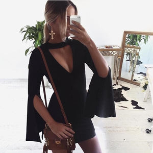 Women's Long Sleeve Turtleneck Black Dress