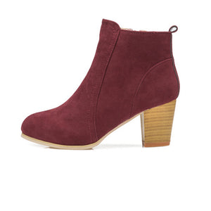 Women's High Heel Winter Boots