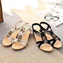 Load image into Gallery viewer, Women's Flat Buckle Roman Summer Sandals