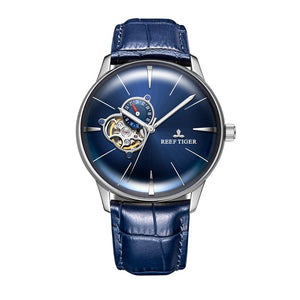 Men's Reef Tiger Rose Gold Blue Dial Automatic Watch