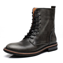 Load image into Gallery viewer, Men's Genuine Leather High Top Boots