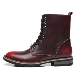 Men's Genuine Leather High Top Boots