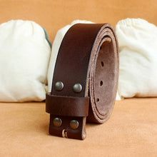 Load image into Gallery viewer, Genuine Leather Belt No Buckle