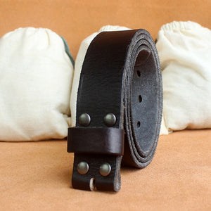 Genuine Leather Belt No Buckle