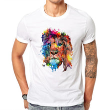 Load image into Gallery viewer, Colorful Lion Men's T-Shirts