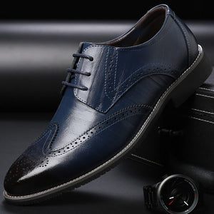 Men's Brogue Leather Dress Shoes