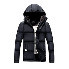 Load image into Gallery viewer, Men's Winter Thicken Quilted Coat with Removable Hood