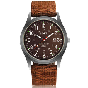 Soki Canvas Men's Sports Watch