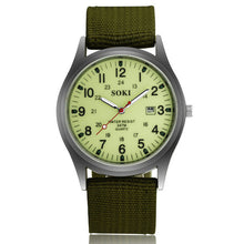 Load image into Gallery viewer, Soki Canvas Men's Sports Watch