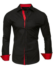 Men's Long Sleeve Slim Fit Dress Shirt