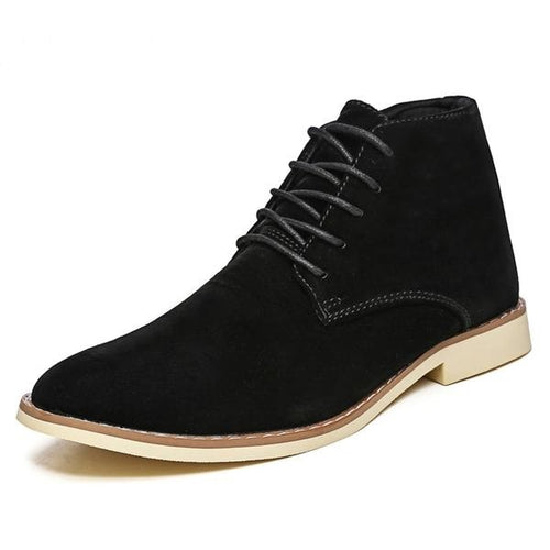Men's Pointed Toe Casual Suede Boots