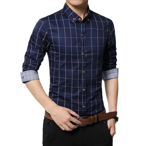 Men's Slim Fit Long Sleeve Shirt