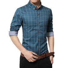 Load image into Gallery viewer, Men's Slim Fit Long Sleeve Shirt
