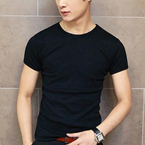 Men's Solid Color Slim Fit T-shirt