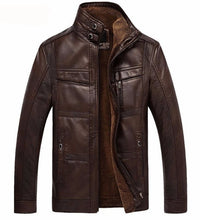 Load image into Gallery viewer, Men's Winter Leather Jacket