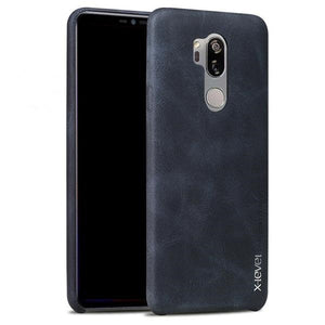 LG G7 ThinQ Leather Back Protective Case