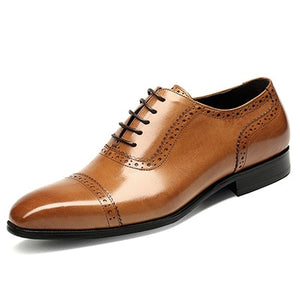 Oxfords Vintage Stylish Pointed Toe Lace Up Brogue Shoes