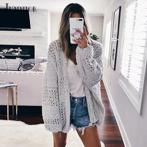 Women's Long Sleeve Sweater Cardigan