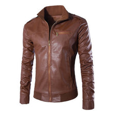 Load image into Gallery viewer, Men's Slim Fit Leather Jacket
