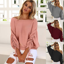 Load image into Gallery viewer, Women's Strapless Shoulder Lace Long Sleeve Sweater