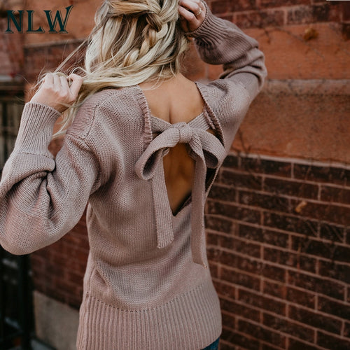 Bow Backless Sweater
