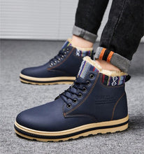 Load image into Gallery viewer, Men's Winter Leather Ankle Boots