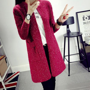 Women's Knitted Cardigan Coat
