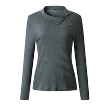Load image into Gallery viewer, Long Sleeve Knitted Ribbed Swaeter