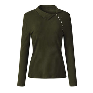 Long Sleeve Knitted Ribbed Swaeter