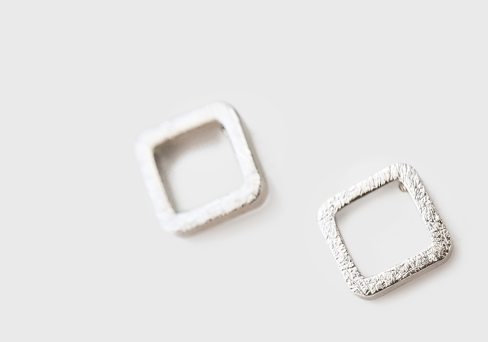 Tiny Open Square Earrings