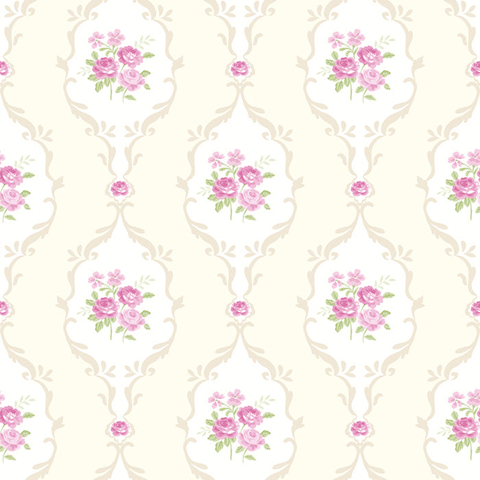 Little Luxuries LL 00211 - Ivory/Fuchsia