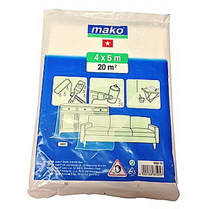 Mako Mako All Purpose Decorating Cover Dust Sheet 4 x 5m